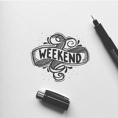 What are you doing this weekend? By @baby.giant.hq #designspiration #lettering #creative #weekend - View this Instagram https://www.instagram.com/Designspiration/