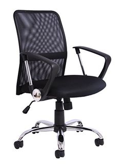 Choice of Colours Black Charles Jacobs Quilted Office Swivel Chair with Castor Wheels and Adjustable Height