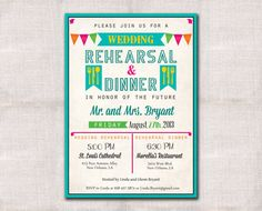 Fiesta Wedding Rehearsal and Dinner by DarlinBrandoPress on Etsy, $15.00