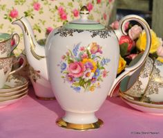 Salisbury Vintage Bone China Teapot or Coffee Pot