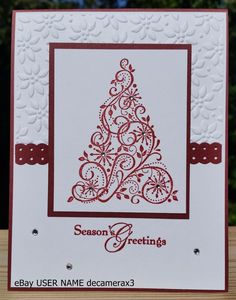 CHRISTMAS HANDMADE CARD KIT, SET OF 4 STAMPIN' UP SNOW SWIRLED  #HandmadeStampinUp #Christmas