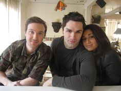 Being Human (SyFy): Josh (Sam Huntington), Aidan (Sam Witwer), Sally (Meaghan Rath)