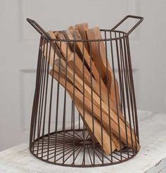 Farmhouse Kindling Basket