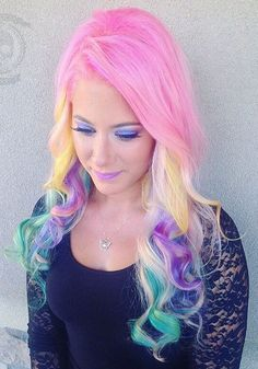 She looks like she has cotton candy in her hair