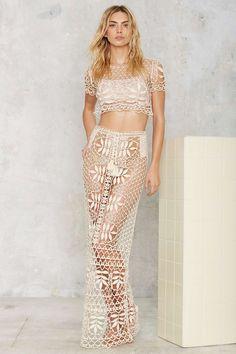 For Love & Lemons St. Tropez Lace Crochet Top | Shop Clothes at Nasty Gal!