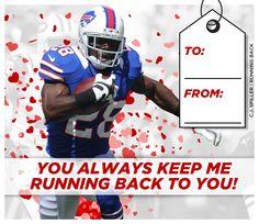 Who doesn't love a little C.J. Spiller on Valentine's Day? #Bills