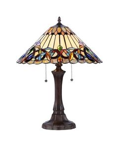 Chloe Lighting CH33318VI16-TL2 Victorian Stained Glass 2-Lt Table Lamp #Chloe