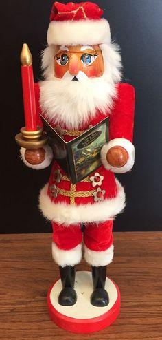 """Thomas Kinkade Red Velveteen Santa Claus Nutcracker reading """"Twas Before Night"""" #ThomasKinkade"""
