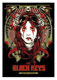 INSIDE THE ROCK POSTER FRAME BLOG: The Black Keys Australian tour Ken Taylor Poster Variants On Sale