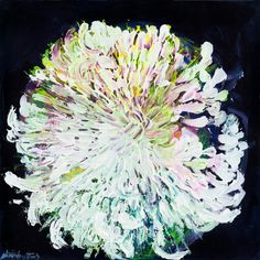 Image of Chrysanthemum printed on canvas AMS58C