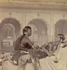 Nautch girls, Hyderabad. Date unknown.: