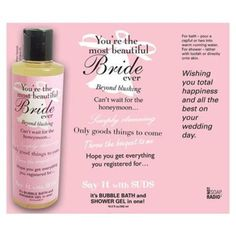 I'm learning all about Not Soap, Radio Say It With Suds Greeting Message Shower Gel Bride at @Influenster!