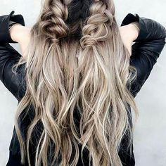 i love unique styles like this | double braids, half up, hairstyle, hair inspiration, everyday, bayalage, balayage, easy, diy ideas, casual, minimalist, minimalism, minimal, simplistic, simple, modern, contemporary, classic, classy, chic, girly, fun, clean aesthetic, bright, pursue pretty, style, neutral color palette, inspiration, inspirational, diy ideas, fresh, stylish,