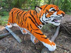 Amazing Tiger made of Lego