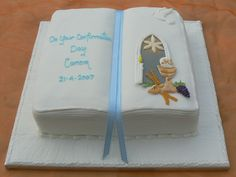 Confirmation Cakes for Boys | Confirmation Openbook (Boys) by Cakes of Distinction, Cork, Ireland
