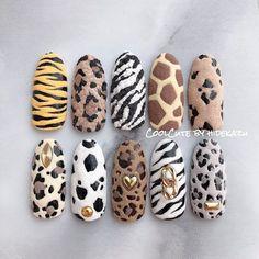 Animal Nail Designs, Animal Nail Art, Nail Art Designs Videos, Cute Nail Art Designs, Cow Nails, Pink Nails, Gorgeous Nails, Pretty Nails, Nail Drawing
