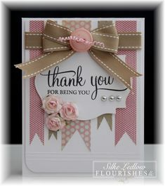 Thank You card by Silke Ledlow