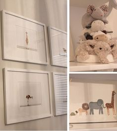 gender-neutral, animal-themed nursery. grey, white and gold.