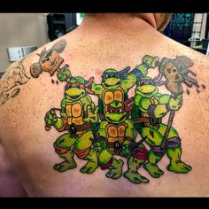 Guy brought in an idea for a TMNT and Biker Mice from Mars collaboration and I took it and worked my magic. Cool Tattoos For Guys, Back Tattoos, Tmnt, Mice, Collaboration, Computer Mouse, Back Pieces, Back Tattoo, Black Tattoos