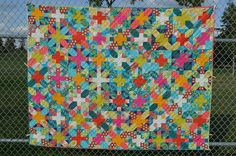 My X Plus Quilt finished!