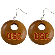 Dayna U USC Trojans Round Wooden Earrings-I'm seriously addicted to this website for USC gear.  They have such cute stuff!