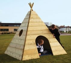 outdoor tipi | Wooden Teepee - Outdoor Playhouses Dens