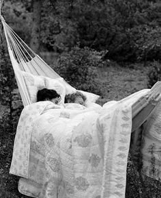 sleep in a hammock ;) It's a definite MUST! :) I love these things! :)