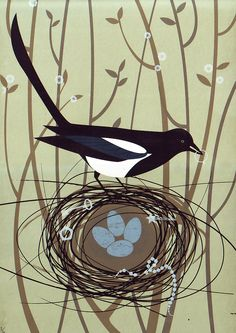 magpie printing | Magpie's Treasure - Sally Elford