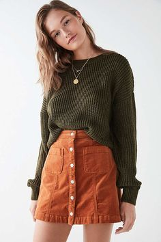 Sweaters + Cardigans for Women BDG Drop-Sleeve Fisherman Sweater. Fall Winter Outfits, Autumn Winter Fashion, Look Fashion, Fashion Outfits, Fashion Ideas, Mode Turban, Cooler Look, Cute Casual Outfits, Stylish Outfits