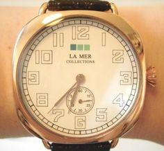 Amazon.co.jp: LA MER COLLECTIONS (ラメールコレクション)  【可愛い 腕時計 ^^/ ヴィンテージ スタイル ♪  日本製 ムーブメント  】 ブラック/ローズゴールド   : 腕時計メンズ / 腕時計レディ-ス  腕時計 [すぐに発送 : 代引...