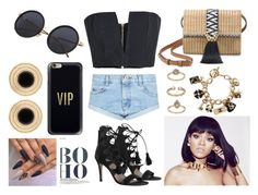 """""""#Black&Gold"""" by maryamy565 ❤ liked on Polyvore featuring Balmain, One Teaspoon, Zimmermann, Stella & Dot, Casetify and Topshop"""