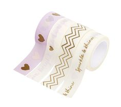 PRINTED PAPER TAPE 4PK: LIVE BRIGHT