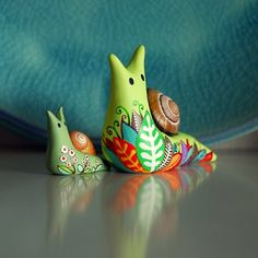 www.joojoo.me makes the loveliest collections of handmade clay snails :)