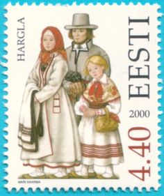All  Estonian stamps  Folk costumes of southeastern Estonia. Hargla Folk  Costume 09d9db53280e2