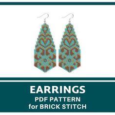 Leaf Earrings, Etsy Earrings, Beaded Earrings, Moon Earrings, Shibori, Brick Stitch Earrings, Bead Crochet Rope, Native American Beadwork, Pretty Patterns