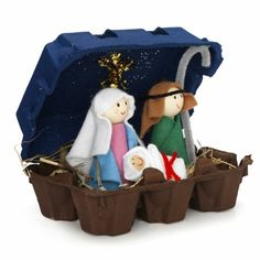 tinker egg box use decorate decorate - Christmas Decorating Christmas Jesus, Christmas Nativity, Christmas Holidays, Christmas Ornaments, Diy For Kids, Crafts For Kids, Christmas Crafts, Christmas Decorations, Bible School Crafts