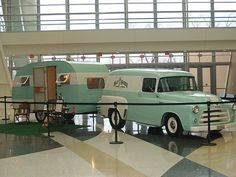 1955 Dodge truck and vintage trailer