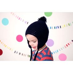 Super-soft handknitted winter warmies http://kidunot.com/navy-blue-bubble-beanie.html