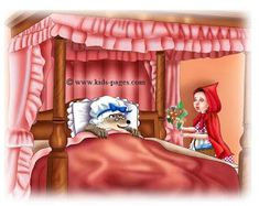 keep sharing your light :): ~ Little Red Riding Hood ~ Little Birds, Little Red, Sleeping Wolf, Red Riding Hood Story, Kids Pages, Big Bad Wolf, Good To See You, Stories For Kids, Big Eyes