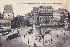 Paris. La place de Clichy. Arrondissement, Rues, Place, Antique Post Cards, Antique Pictures, Ile De France, Old Paris