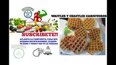 WAFFLES Y CHAFFLES CARNIVOROS, 5 IDEAS Nuevas Ideas, Keto Recipes, Easy, Waffles, Breakfast, Food, Youtube, Meals, Ketogenic Recipes