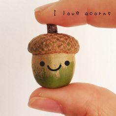 I love acorns Super Cute, Pine Cones, Autumn Leaves, Aesthetics, Fall Leaves, Pine Cone, Pinecone