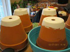 Clay pot irrigation (ollas)