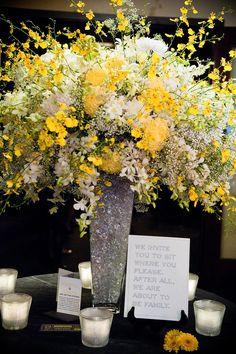 Decoração Amarelo e Preto - Apenas Três Palavras: Sim, Eu Aceito!