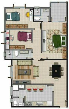 Interior Design Videos, Interior Design Renderings, Interior Modern, Interior Sketch, Luxury Interior, Bedroom House Plans, Dream House Plans, House Floor Plans, Bungalow Haus Design