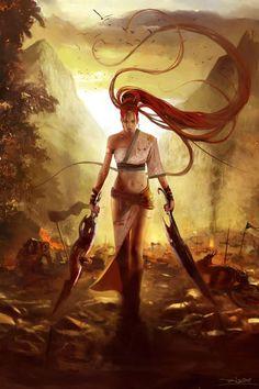Nariko, Heavenly Sword ~ by Talexi (Alessandro Taini)