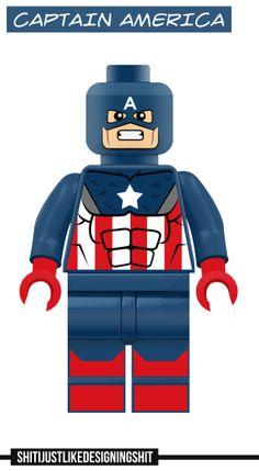 Lego Captain America concept