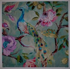Fabric from James Dunlop used as a canvas ... I adore!
