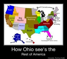 """""""How Ohio Sees the Rest of America"""" & Other Maps According To Ohio"""