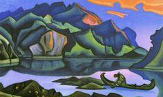 Николай Рерих.   Клад захороненный.   Nicholas Roerich.   Hidden Treasure.